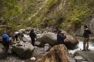 Fotografen werden fotografiert, wie sie Fotografen beim Fotografieren fotografieren