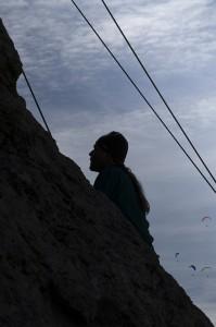 Erstbesteigung mit Mütze und Gleitschirmfliegern - mit meiner Kamera von einem der Teilnehmer aufgenommen