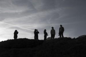 Fotografen in der Abendsonne