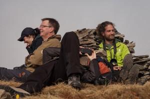 Auch auf dem Gipfel haben die meisten gut lachen